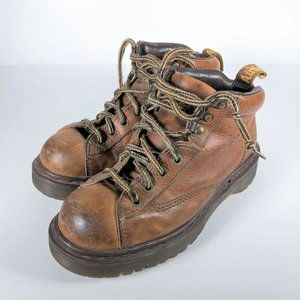 Doc Martens brown cognac chunky sole boots 7